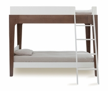 Perch Twin Bunk Bed in White & Walnut