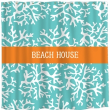 Personalized Coral Shower Curtain