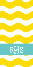 Personalized Beach Towel in Ric Rac
