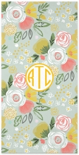 Personalized Beach Towel - Monogram Circle