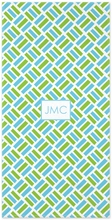 Personalized Beach Towel - Monogram Square