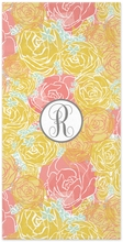 Personalized Beach Towel - Single Initial Circle