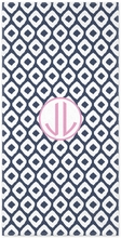 Personalized Beach Towel - Two Initials Circle