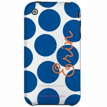 Personalized Blue Dot Snap-on iPhone 4 Case