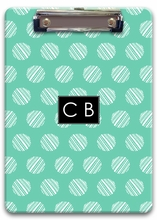Personalized Clipboard - Two Initials Square