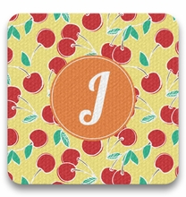 Personalized Coaster Set - Single Initial Circle