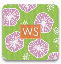 Personalized Coaster Set - Two Initials Square