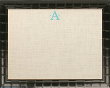 Personalized Embroidered Initial Bulletin Board With Bamboo Frame