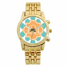 Personalized Gold Plated Boyfriend Watch - Ikat Funk