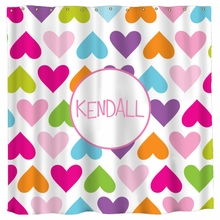 Personalized Hearts Shower Curtain