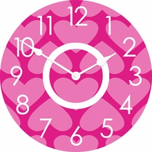 Personalized Hearts Wall Clock