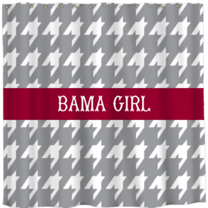 Personalized Houndstooth Shower Curtain