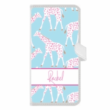 Personalized iPhone Wallet Case in Giraffe