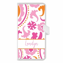 Personalized iPhone Wallet Case in Suzanni Trio