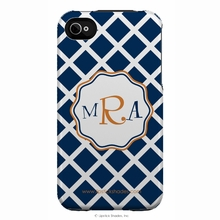 Personalized Lattice & Swirl Monogram Snap-on iPhone 4 Case