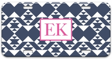 Personalized License Plate - Two Initials Square
