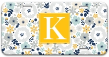 Personalized License Plate - Single Initial Square