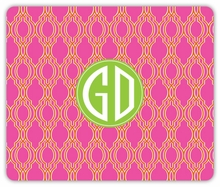 Personalized Mouse Pad - Two Initials Circle