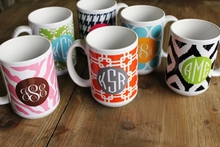 Personalized Mug - Monogram Circle
