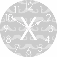 Personalized Mustache Wall Clock