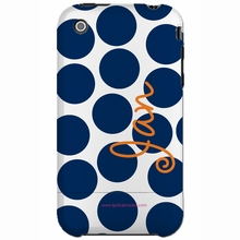 Personalized Navy Dot Snap-on iPhone 4 Case