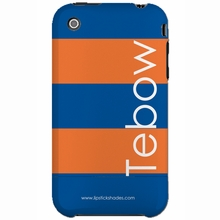 Personalized Orange and Blue Stripe Snap-on iPhone 4 Case