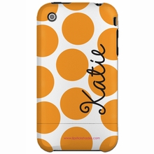Personalized Orange Dot Snap-on iPhone 4 Case