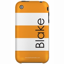 Personalized Orange Stripe Snap-on iPhone 4 Case