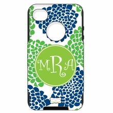 Personalized Otterbox Phone Case in Bloom Duo Navy Grass