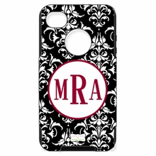 Personalized Otterbox Phone Case in Damask