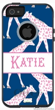 Personalized Otterbox Phone Case in Galloping Giraffes