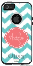 Personalized Otterbox Phone Case in Ikat Chevron