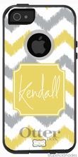 Personalized Otterbox Phone Case in Ikat Chevron Duo