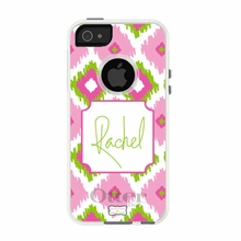 Personalized Otterbox Phone Case in Ikat Trio Pink