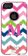 Personalized Otterbox Phone Case in Multi Ikat Chevron