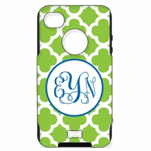 Personalized Otterbox Phone Case in Quatrefoil