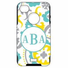Personalized Otterbox Phone Case in Suzani Aqua Gray Sunshine