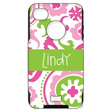 Personalized Otterbox Phone Case in Suzani Fuchsia Bubblegum Apple