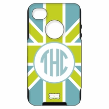 Personalized Otterbox Phone Case in Union Jack Green