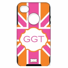 Personalized Otterbox Phone Case in Union Jack Pink