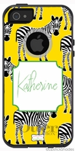 Personalized Otterbox Phone Case in Zazzy Zebras