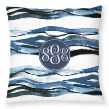 Personalized Outdoor Pillow - Monogram Circle