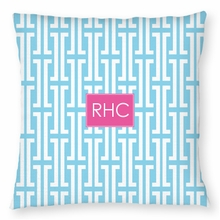 Personalized Outdoor Pillow - Monogram Square