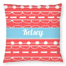 Personalized Outdoor Pillow - Name Band