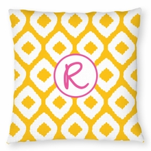 Personalized Outdoor Pillow - Single Initial Circle