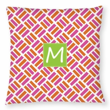 Personalized Outdoor Pillow - Single Initial Square