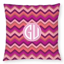Personalized Outdoor Pillow - Two Initials Circle