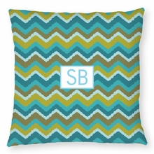 Personalized Outdoor Pillow - Two Initials Square