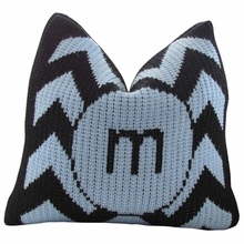 Personalized Initial Pillow with Chevron