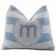 Personalized Initial Pillow with Modern Stripe